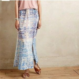Anthro Maeve Waimea Silk Skirt